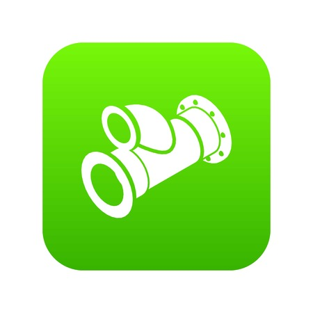Cellar pipe icon green vector isolated on white background Illustration