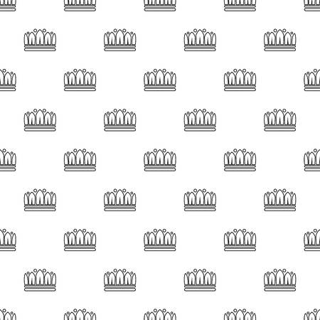 Snow crown pattern vector seamless repeating for any web design Standard-Bild - 100687173