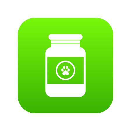 Treatment solution for animals icon digital green for any design isolated on white vector illustration