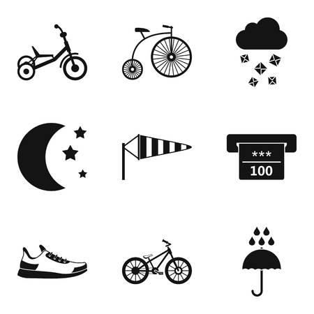 Women training icons set. Simple set of 9 women training vector icons for web isolated on white background Stock Illustratie