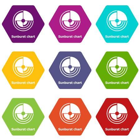 Sunburst chart icons