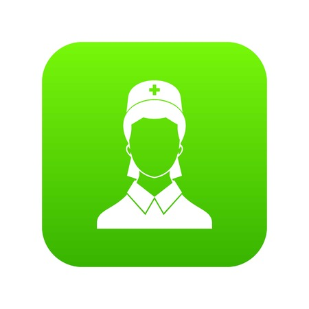 Doctor icon digital green for any design isolated on white vector illustration