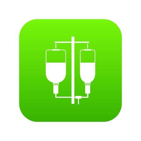 Intravenous infusion icon digital green for any design isolated on white vector illustration