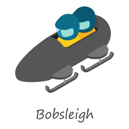 Bobsleigh icon. Isometric of bobsleigh vector icon for web design isolated on white background.