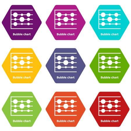 Bubble chart icons