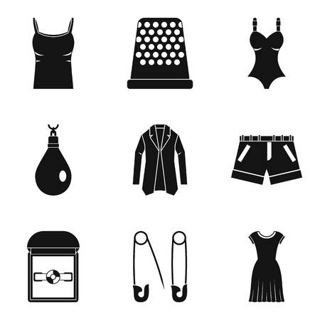 Fashionable accessory icons set. Simple set of 9 fashionable accessory vector icons for web isolated on white background