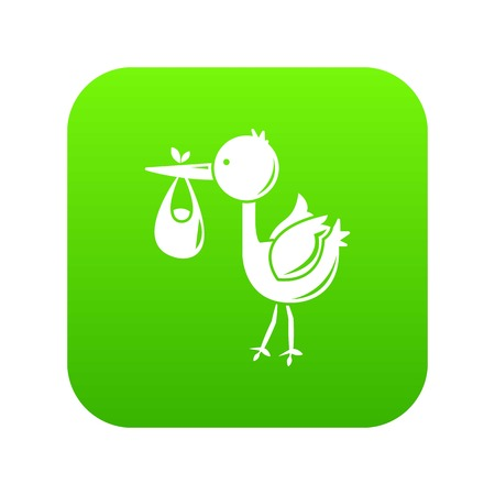 Stork child icon