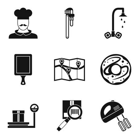 Single room icons set. Simple set of 9 single room vector icons for web isolated on white background