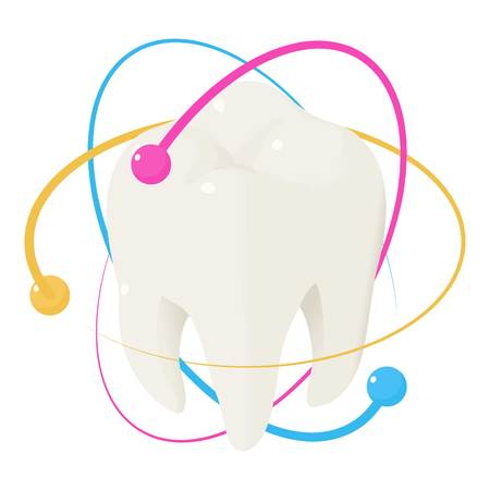 Healthy tooth icon. Isometric of healthy tooth vector icon for web design isolated on white background