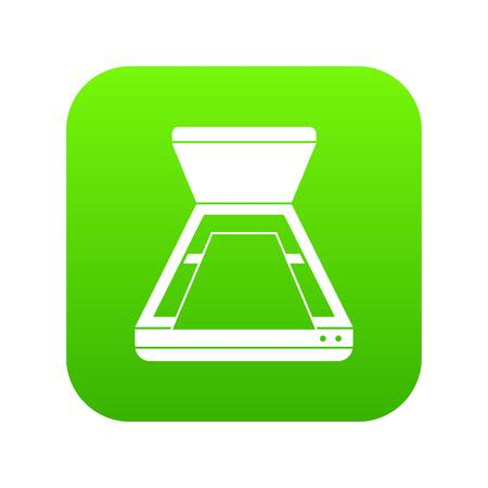 Open scanner icon digital green for any design isolated on white vector illustration
