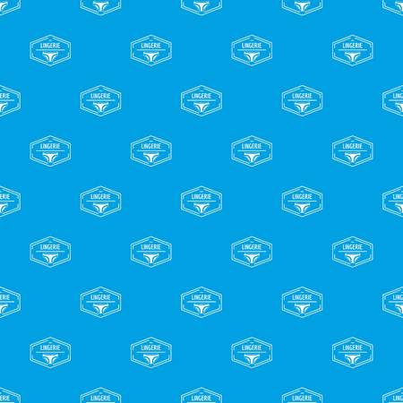 Lingerie body pattern vector seamless blue repeat for any use Illustration