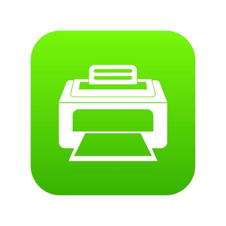 Modern laser printer icon digital green for any design isolated on white vector illustration Illustration