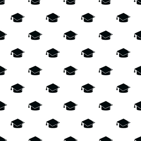 Graduation cap pattern vector seamless repeating for any web design Illustration