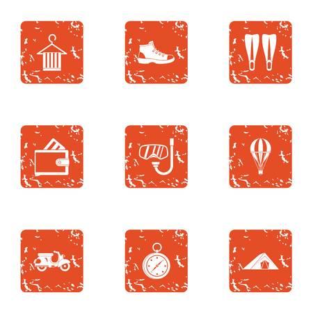 Frolic icons set. Grunge set of 9 frolic vector icons for web isolated on white background