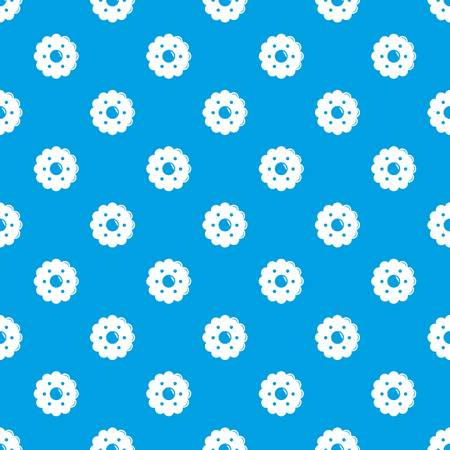 Biscuits pattern vector seamless blue repeat for any use Ilustração