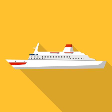 Atlantic cruise ship icon. Flat illustration of atlantic cruise ship vector icon for web design