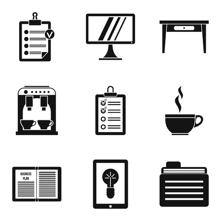 Premise icons set. Simple set of premise vector icons for web isolated on white background