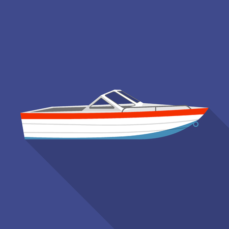Motor boat icon. Flat illustration of motor boat vector icon for web design