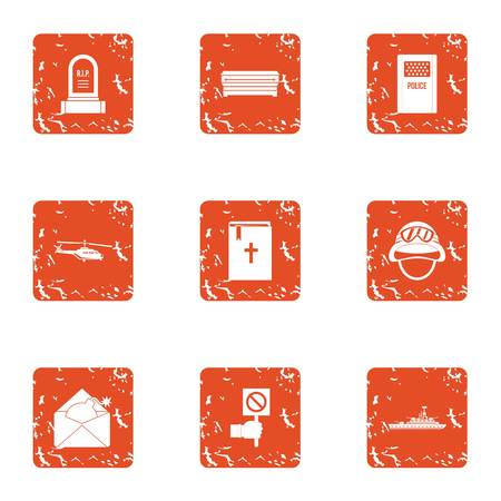 Cultic icons set. Grunge set of 9 cultic vector icons for web isolated on white background.