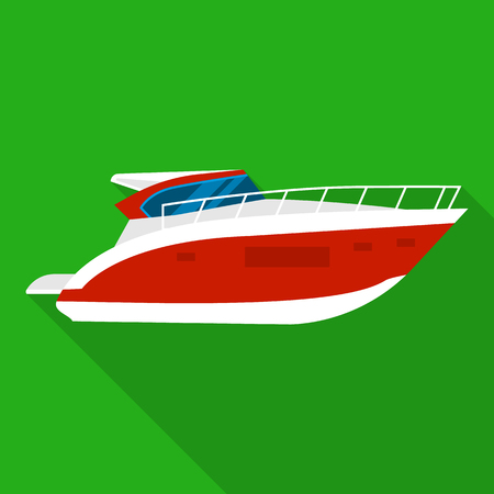 Room boat icon. Flat illustration of room boat vector icon for web design