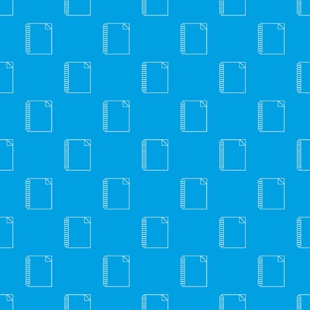 Notebook pattern vector seamless blue repeat for any use Illustration
