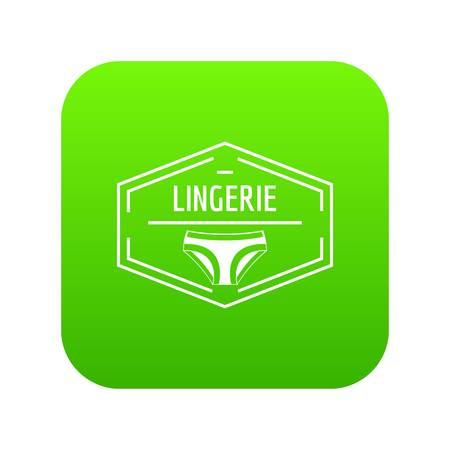Lingerie body icon green vector isolated on white background