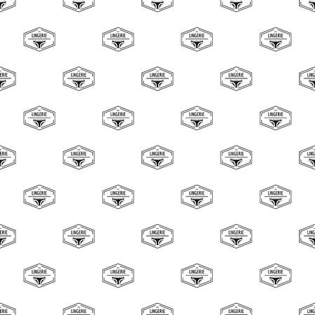 Lingerie body pattern vector seamless repeat for any web design