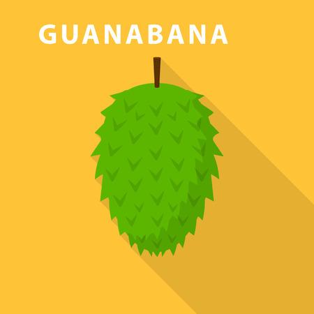 Guanabana icon. Flat illustration of guanabana vector icon for web design
