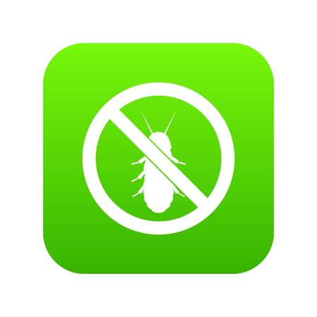 No termite sign icon digital green for any design isolated on white vector illustration.