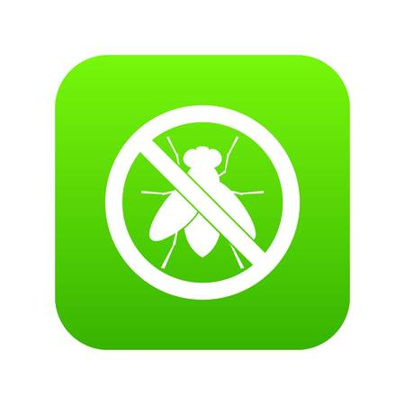 No fly sign icon digital green for any design isolated on white vector illustration.