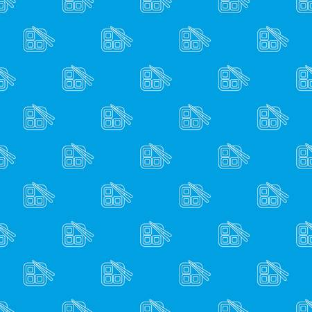 Sushi pattern vector seamless blue repeat for any use