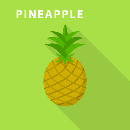 Pineapple icon. Flat illustration of pineapple vector icon for web design