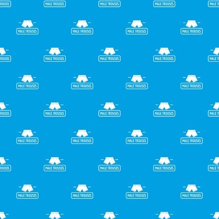 Underpant pattern vector seamless blue repeat for any use