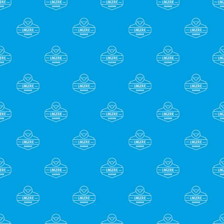 Lingerie female pattern vector seamless blue repeat for any use