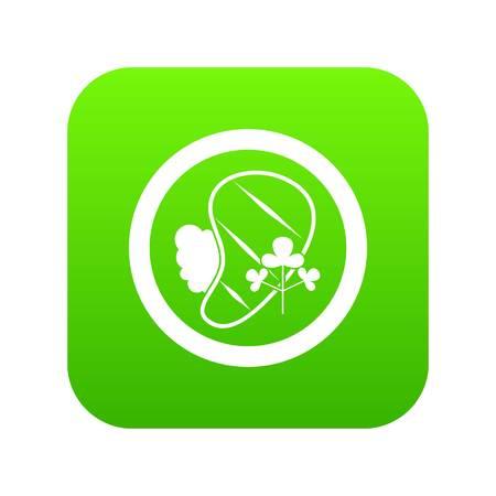 Steak icon digital green for any design isolated on white vector illustration Illustration