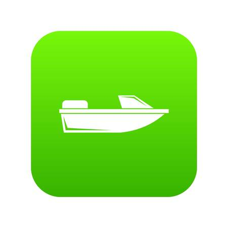 Sports powerboat icon digital green for any design isolated on white vector illustration