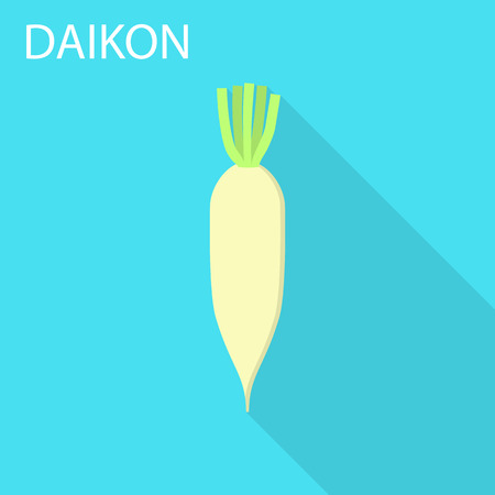 Daikon icon. Flat illustration of daikon vector icon for web design
