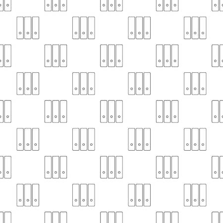 Office folder pattern vector seamless repeating for any web design Stock Illustratie