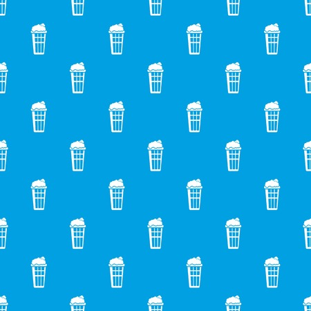 Popcorn box pattern vector seamless blue repeat for any use Çizim