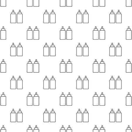 Ketchup mustard squeeze bottle pattern vector seamless repeating for any web design