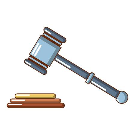 Up judge gavel icon. Cartoon of up judge gavel vector icon for web design isolated on white background. Çizim