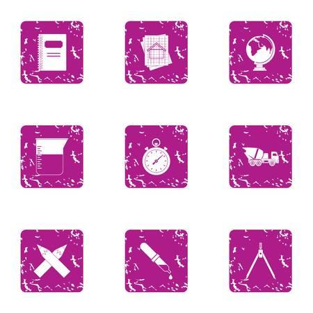 Enterprise icons set. Grunge set of 9 enterprise vector icons for web isolated on white background
