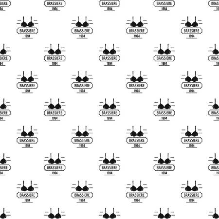 Brassiere pattern vector seamless repeat for any web design Ilustração