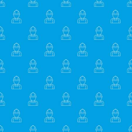 Man mechanic pattern vector seamless blue repeat for any use Illustration