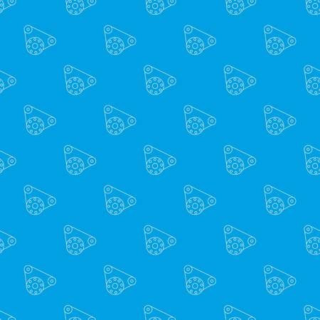 Motor pattern vector seamless blue repeat for any use Illustration