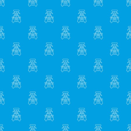 Car wash pattern vector seamless blue repeat for any use