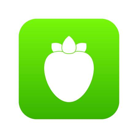 Ripe persimmon icon digital green for any design isolated on white vector illustration.
