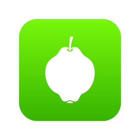 Quince fruit icon digital green for any design isolated on white vector illustration.
