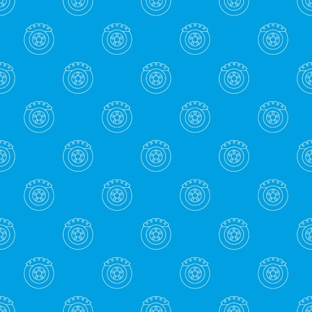 Brake shoe pattern vector seamless blue repeat for any use.