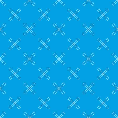Spanner seamless pattern in blue colors.